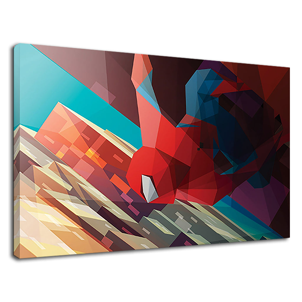 Low Fi Geometric Spiderman Cool Boys Bedroom Art