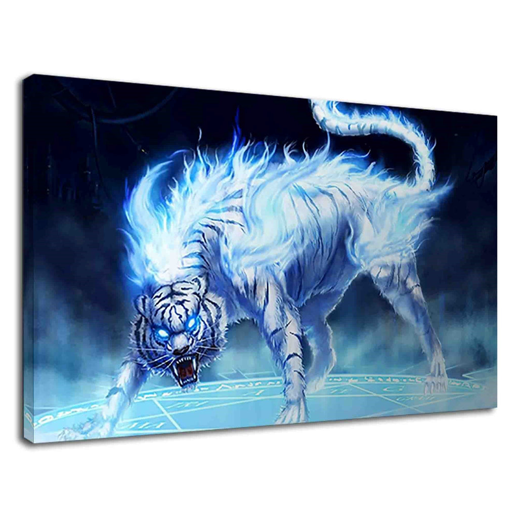Mythical White Tiger Fantasy Art Kids Bedroom