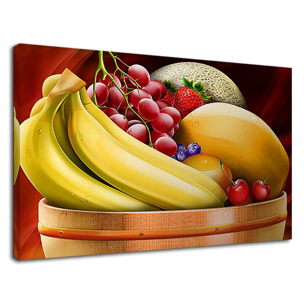 Breakfast Fruits On A Bowl Digital Oil Painting