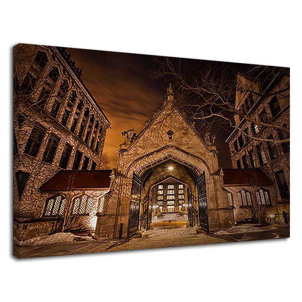 University Of Chicago Hull Gate Spooky Night View