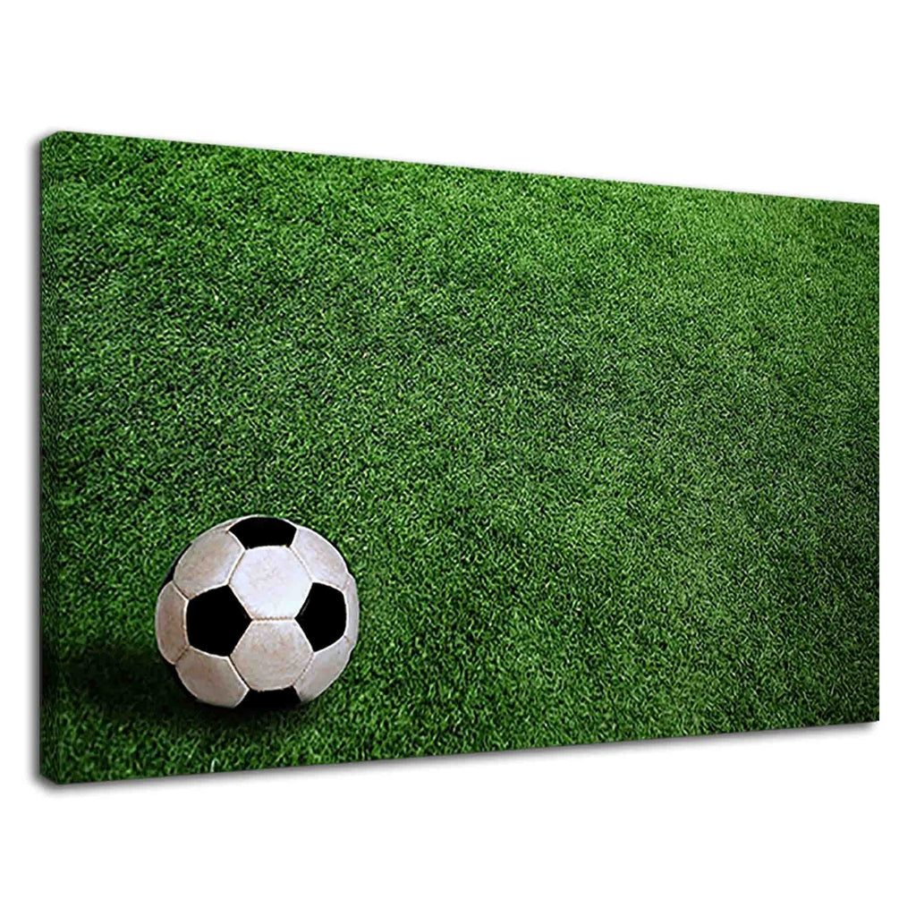 Soccer Ball On The Green Field For Drawing Room
