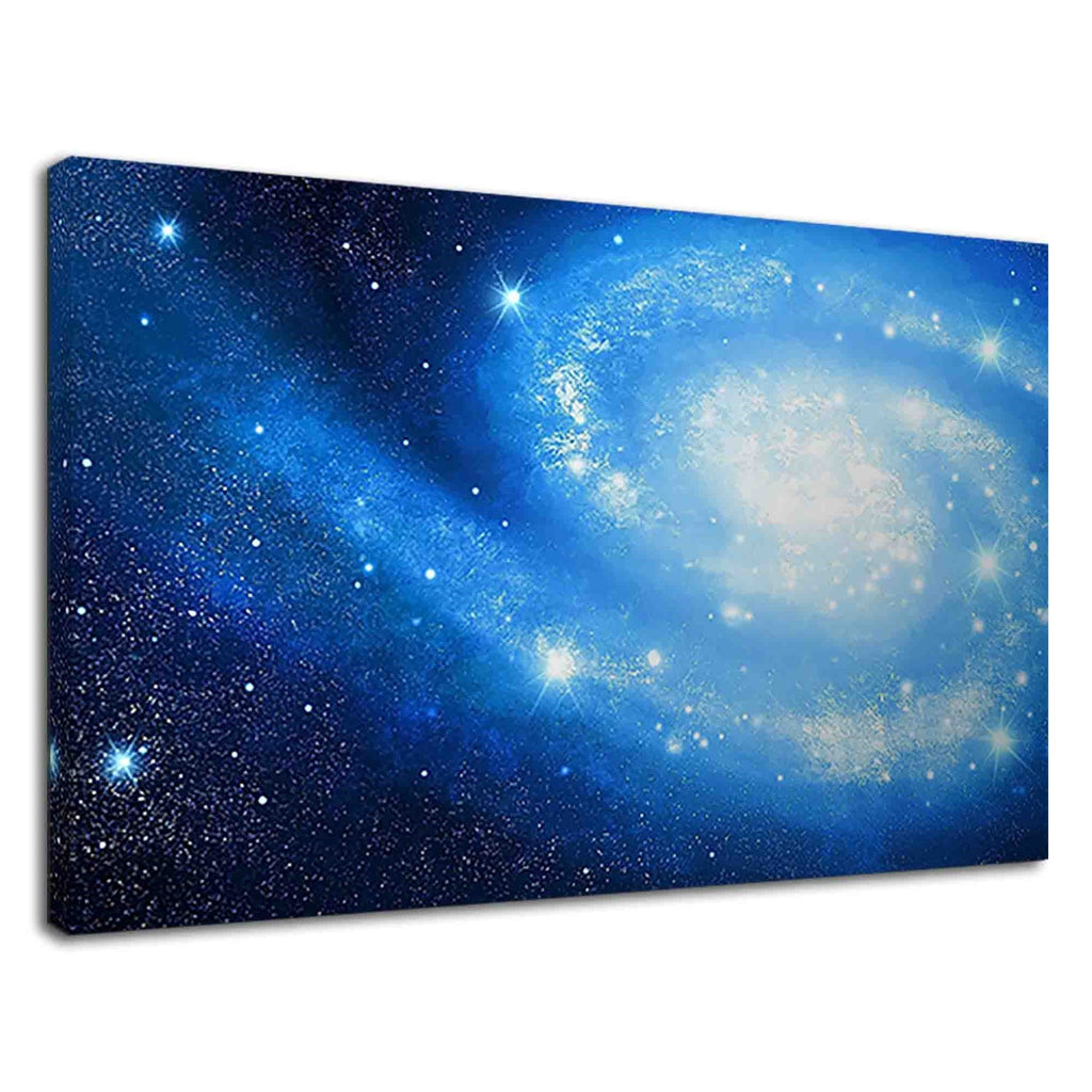 Amazing Blue Galaxy In Outer Space Fantasy Art