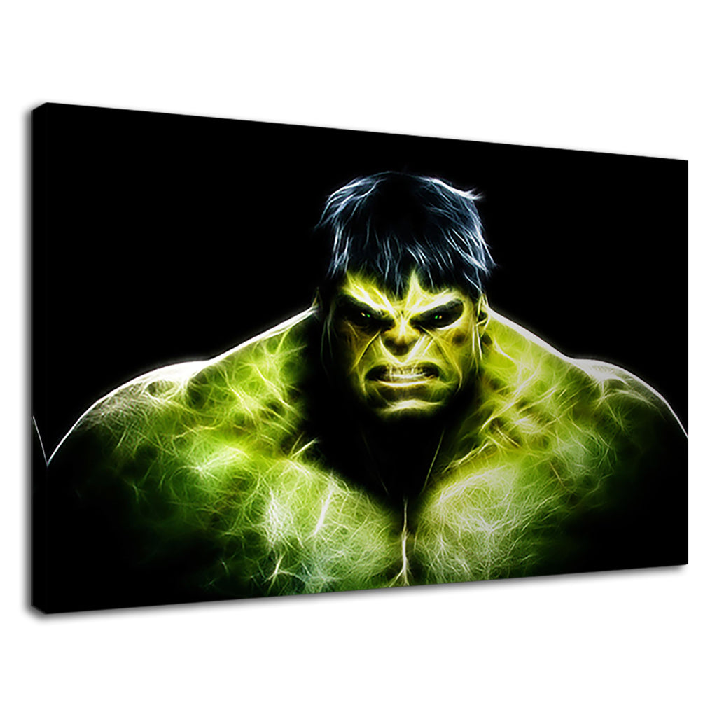 Digital Painting Fractal Neon The Hulk Avengers