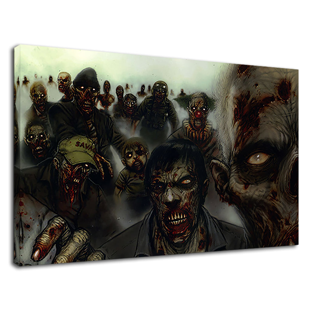 Scary Zombie Conceptual Art For Boys Bedroom