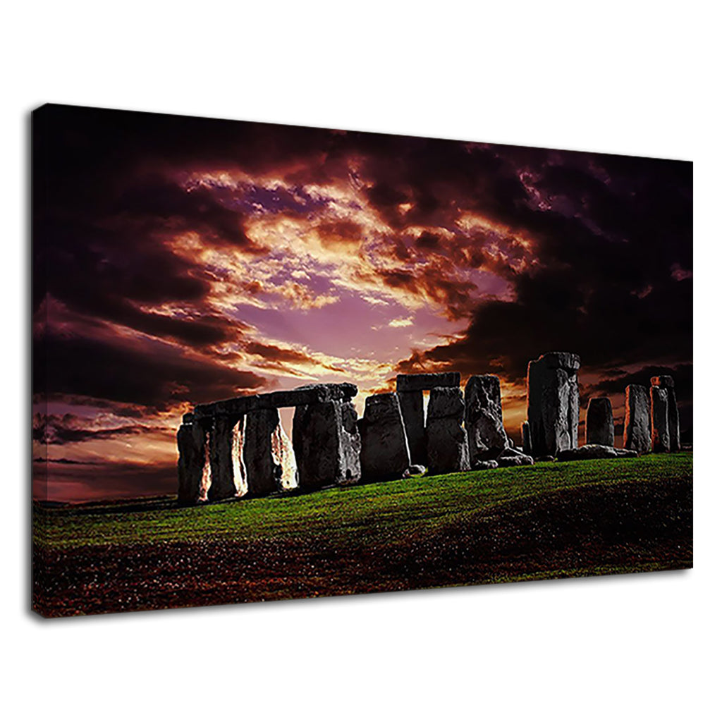 Stonehenge Landscape Dramatic Sky British Country