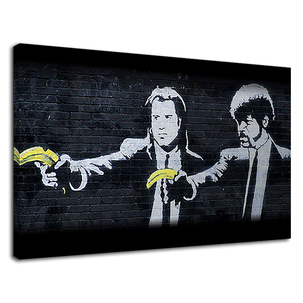 Pulp Fiction Banksy Banana Graffiti Cult Tarantino
