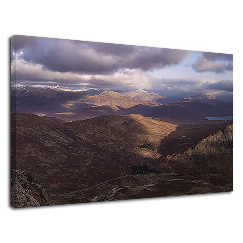 Scottish Highlands Scotland Ariel Landscape Photo