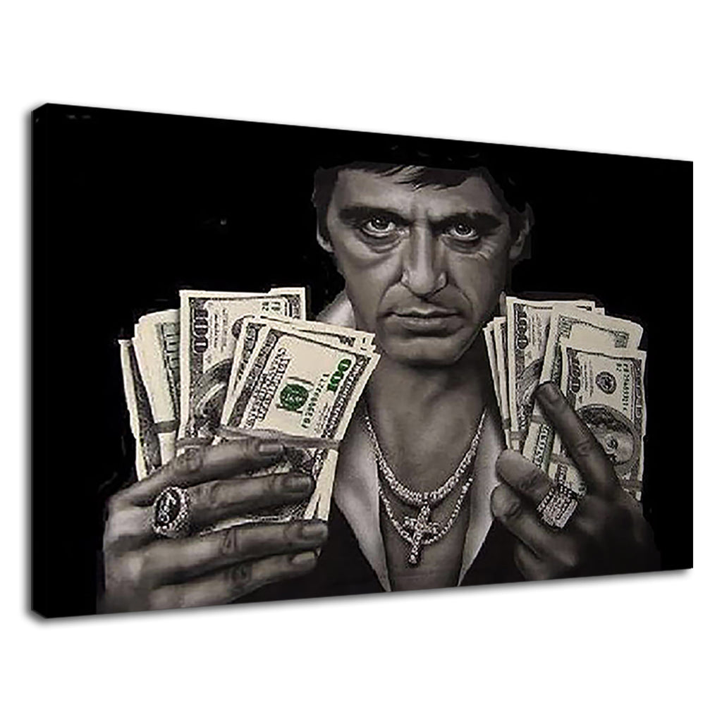 Scarface Tony Montana Dollar Bills Al Pacino Movie