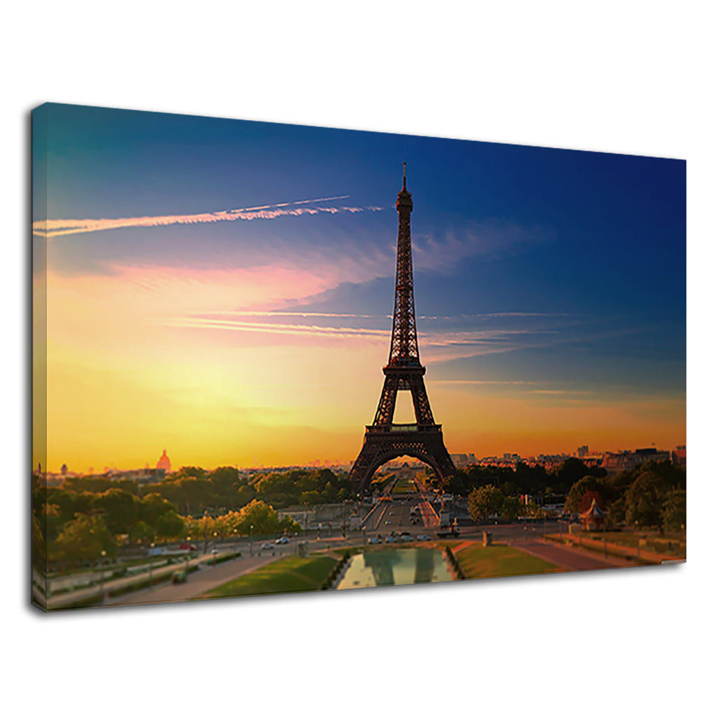 Eiifel Tower Paris At Sunset France City Of Love