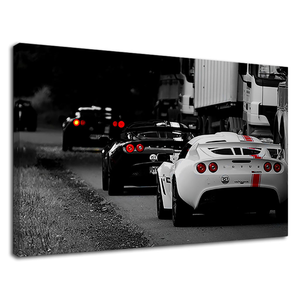 Black And White Lotus Sports Car Racing Boys Room