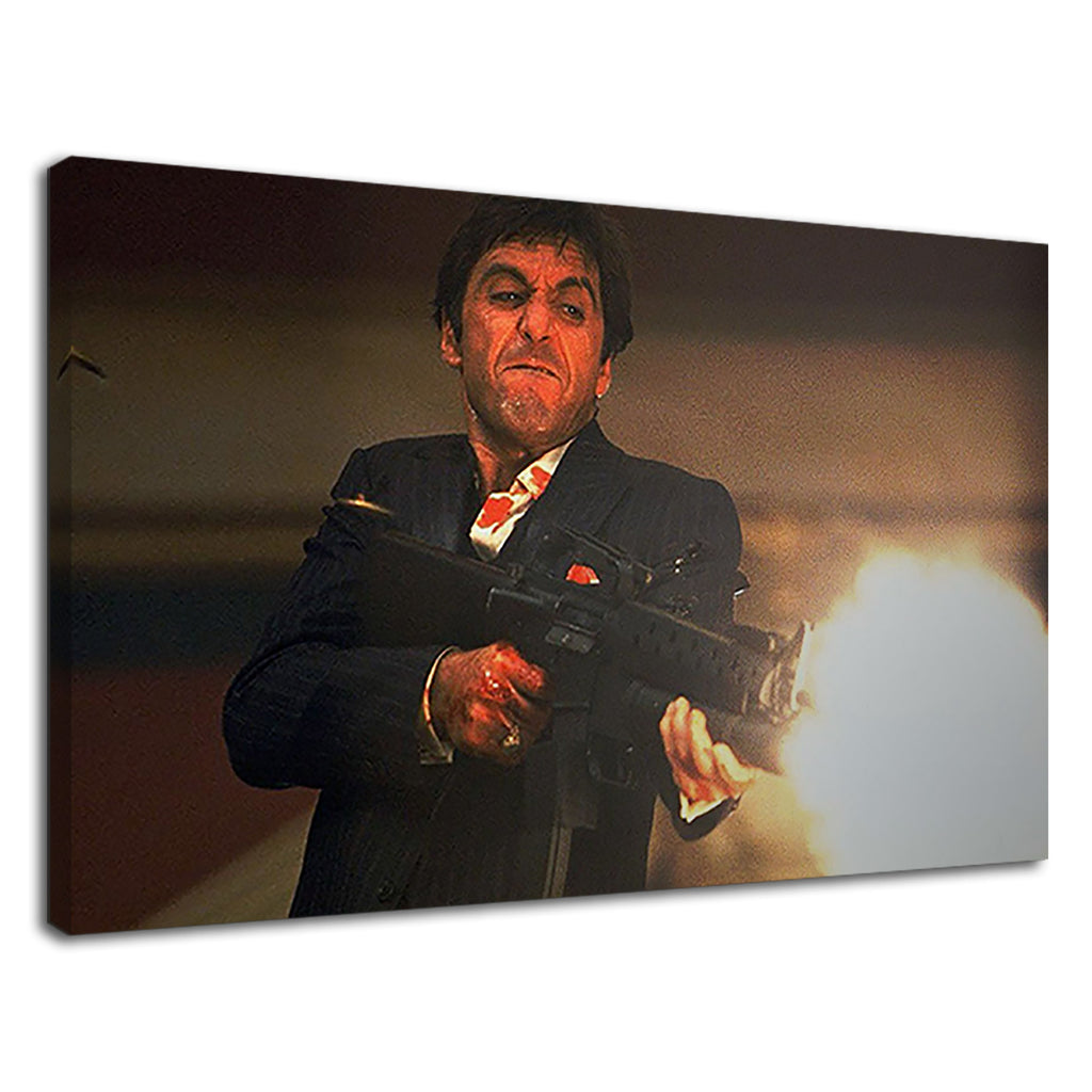 Scarface Tony Montana Al Pacino Film Machine Gun