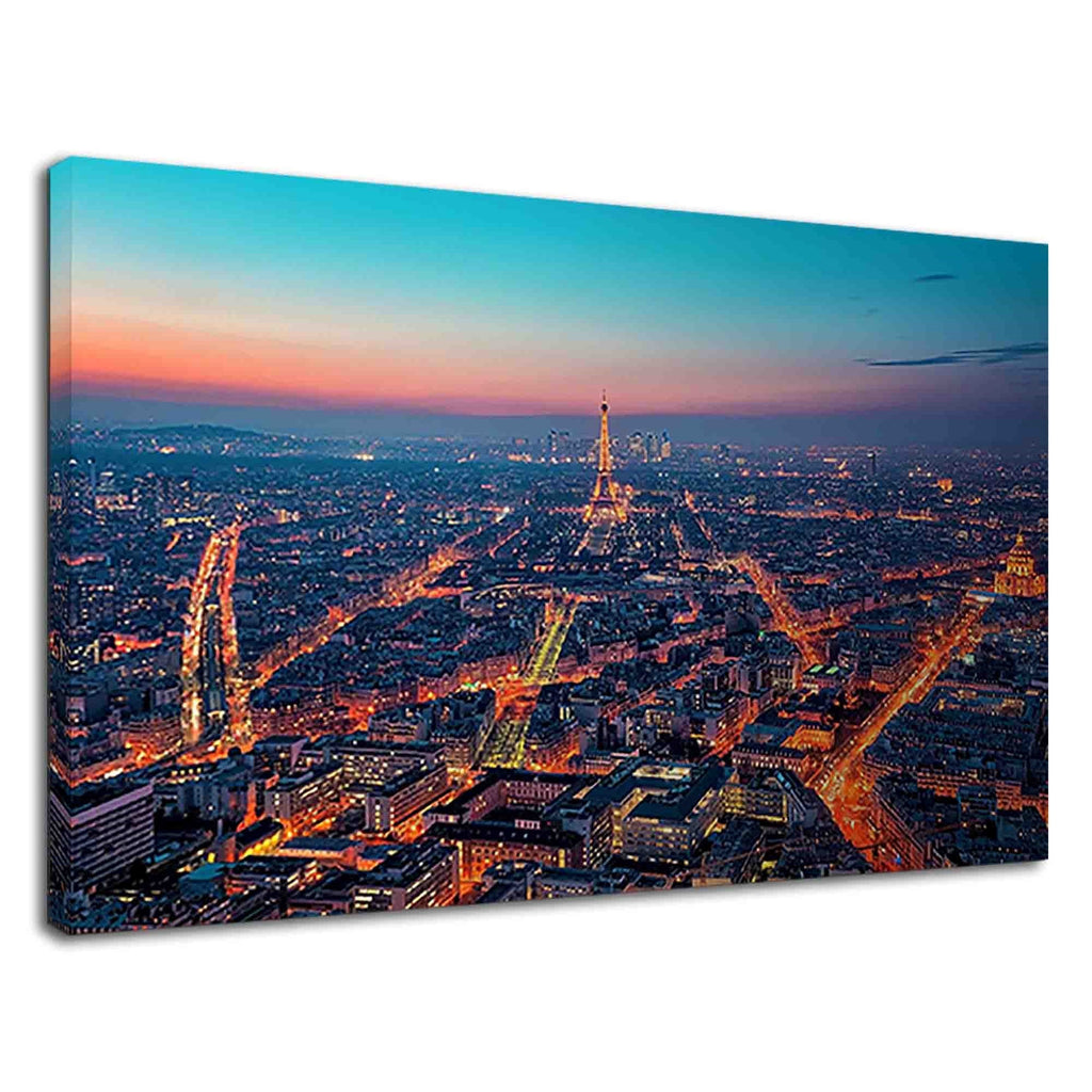 Paris City Of Lights Night View For Drawing Room