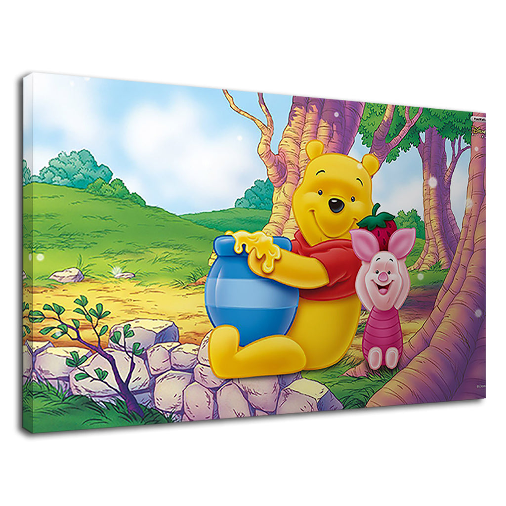 Winnie The Pooh And Piglet Cartoon Honey Childrens