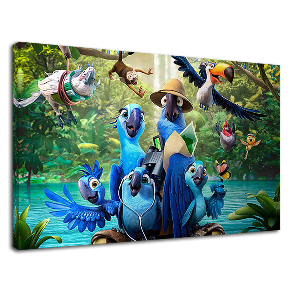 Brazilian Rio Birds Rio 2 Movie Promo Art