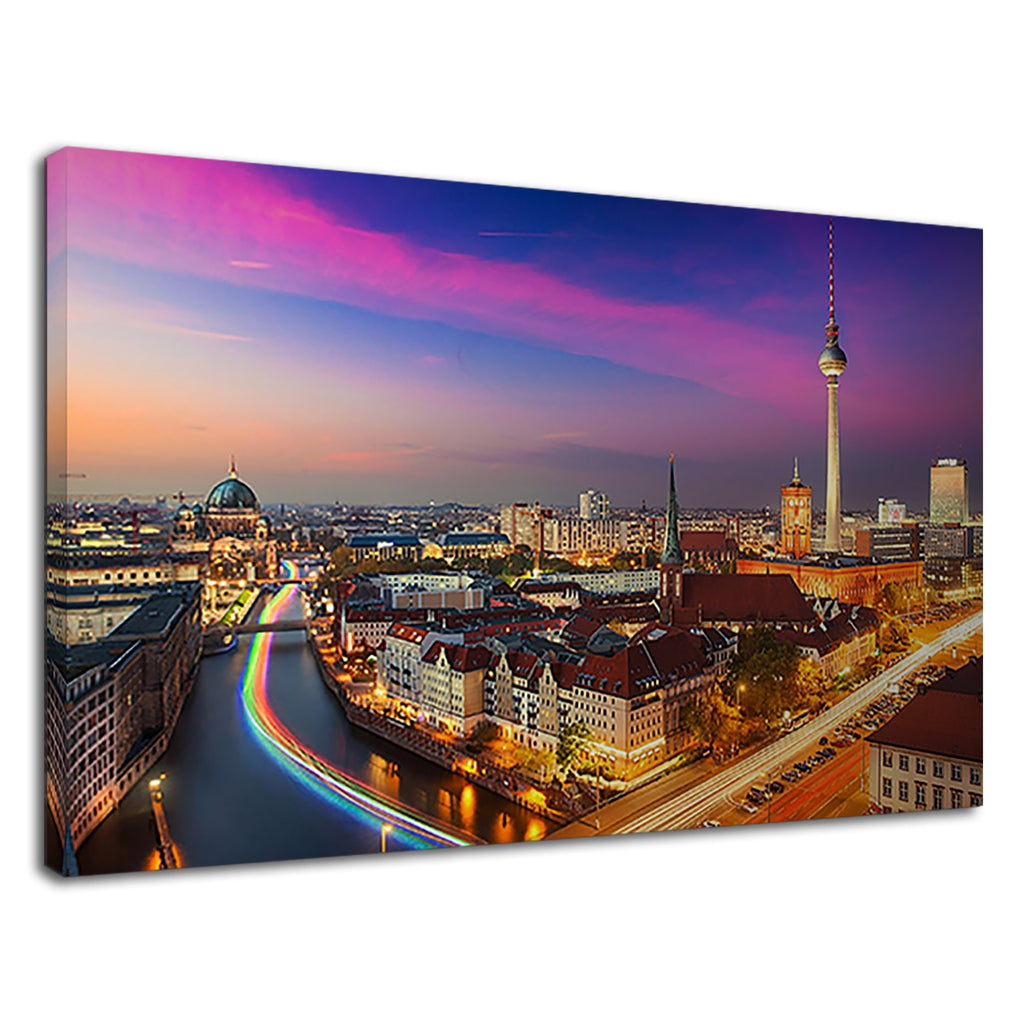 Stunning Berlin City View Cityscape Lights