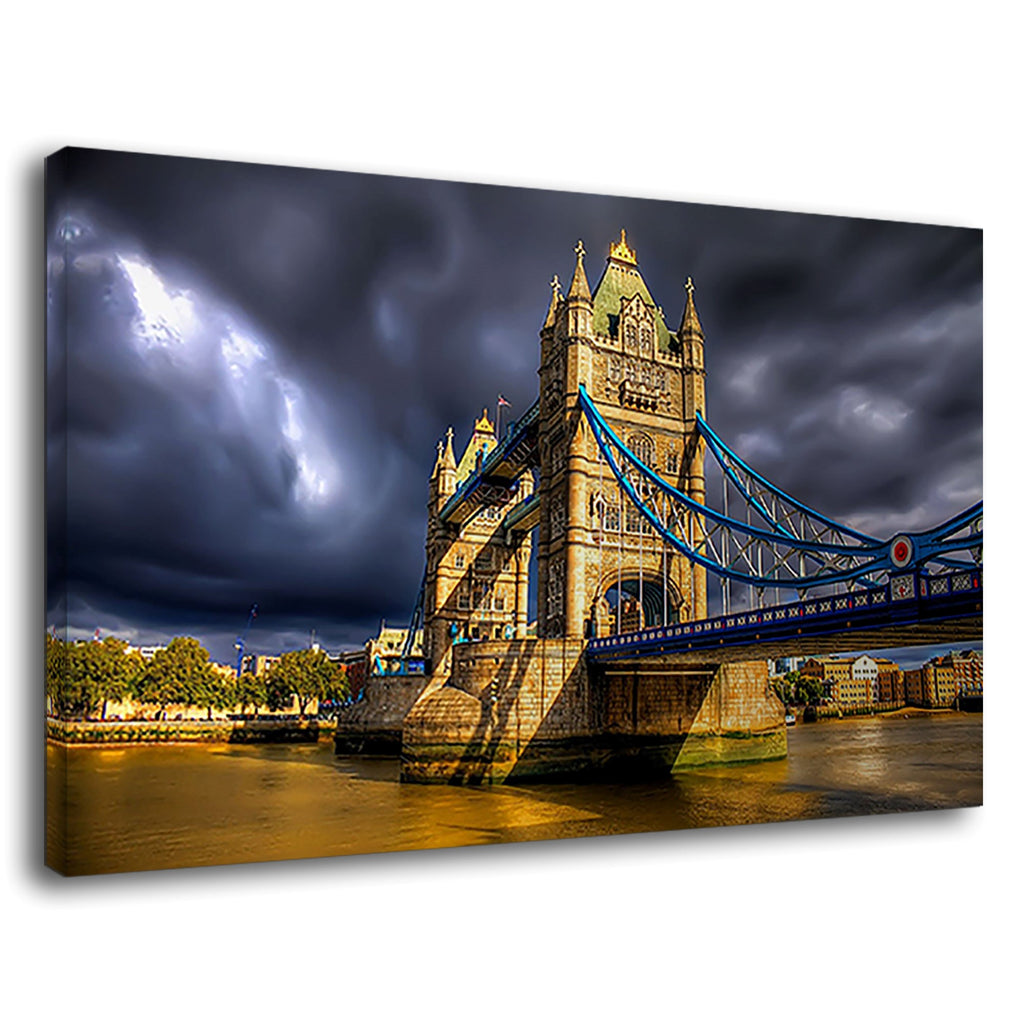 Tower Bridge London England Dramatic Sky Storm