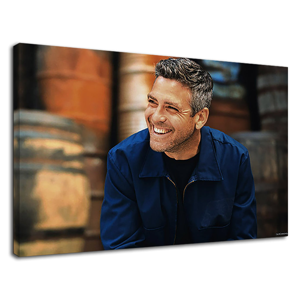 George Clooney Beautiful Smile For Living Room