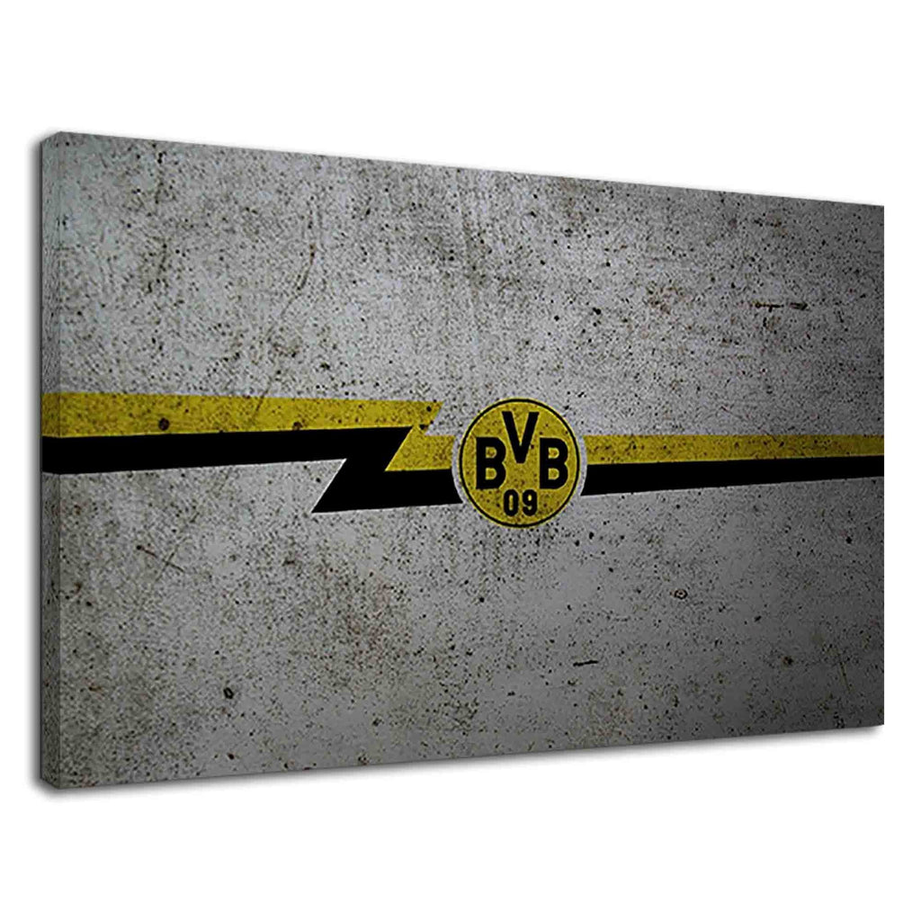 Borussia Dortmund Abstract Flag In Grunge Style