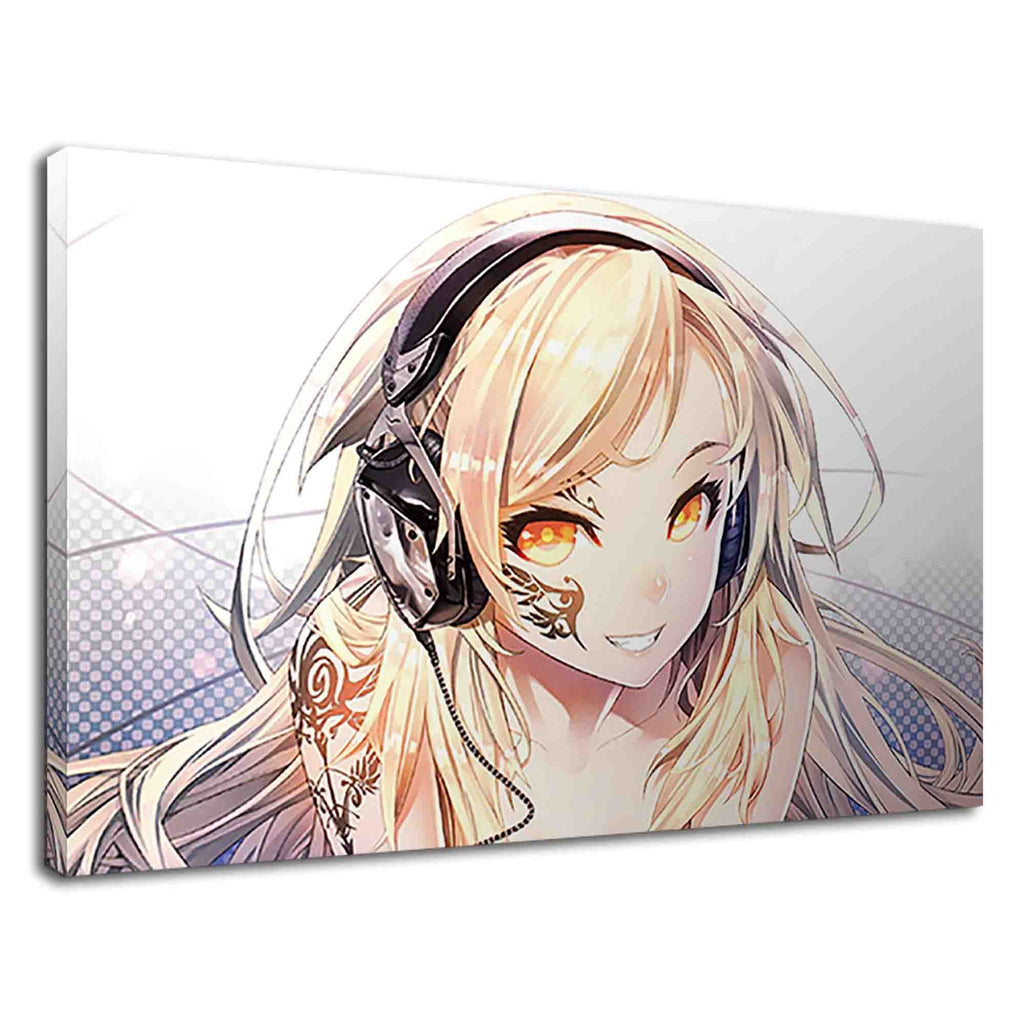 Lovely Manga Girl Listening To Music Digital Art