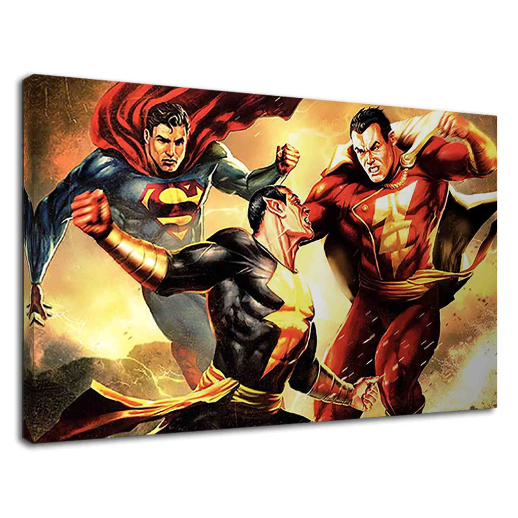 Superman And Shazam After Black Adam Fantasy Art