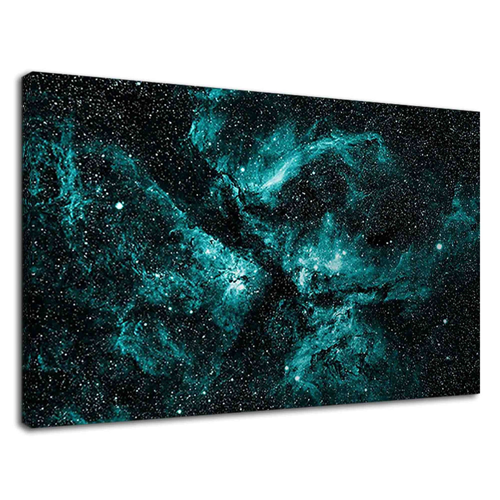 Amazing Sky Blue Nebula In Space For Drawing Room