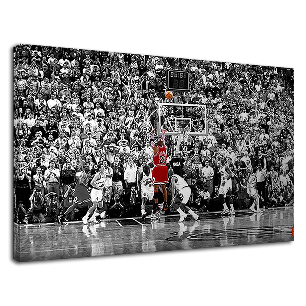 Black And White Red Nba Basketball Hall Fame Hoop