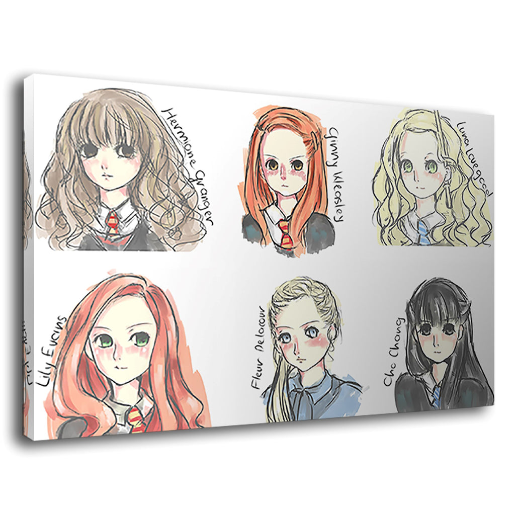 Girls Of Harry Potter Watercolour Artist Childrens