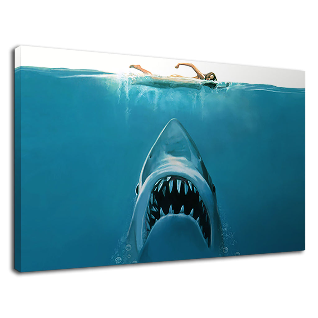 Iconic Jaws Swimmer Classic Cult Film Movie Promo