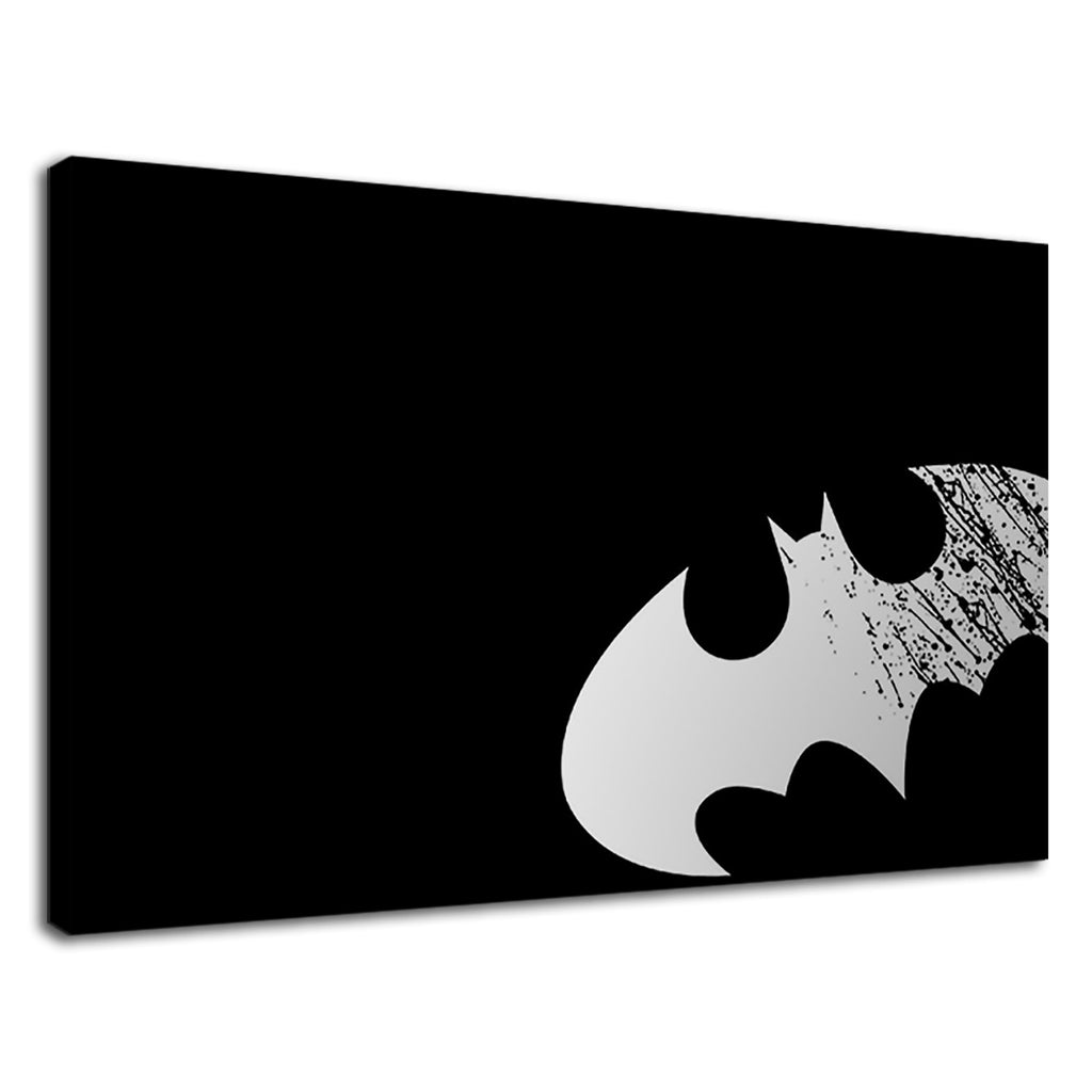 Grunge Batman Logo Bat Signal Black And White