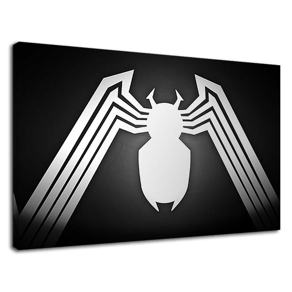 Venom Logo Spiderman Marvel Black And White