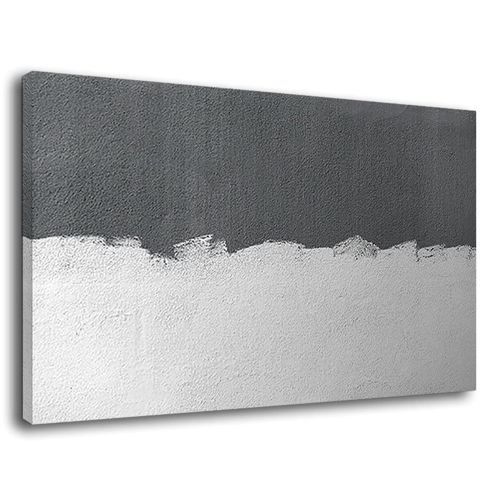 Minimalist Abstract Grey Concrete Painted White