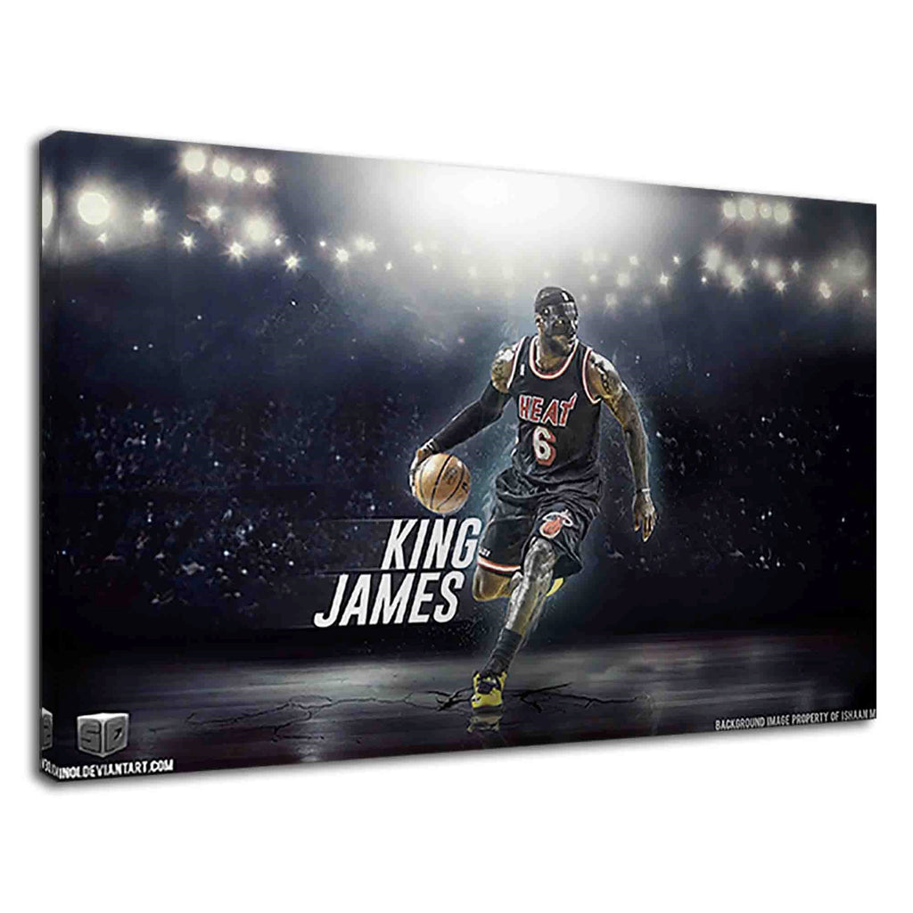 Lebron James King Of Nba For Boys Bedroom
