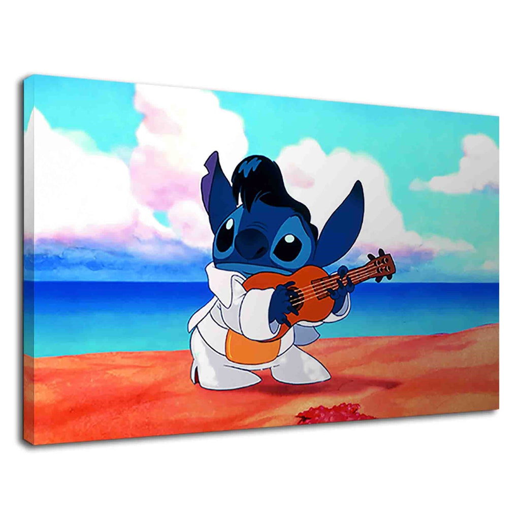 Stitch The Lovely Blue Koala Playing Guitar