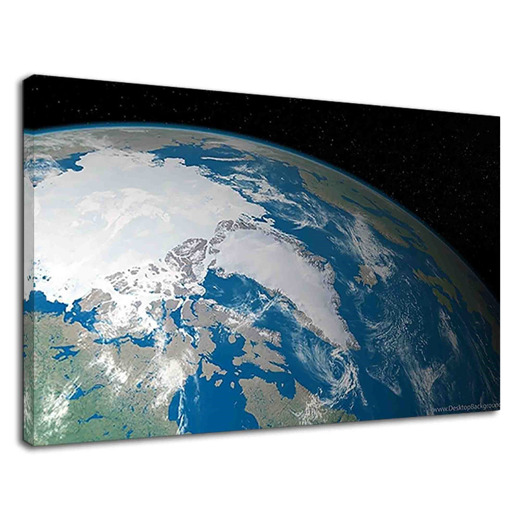 Beautiful Earth View From Space For Drawing Room