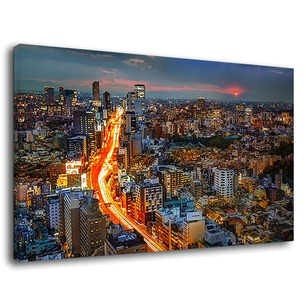 Tokyo City Japan Cityscape Streets Of Fire Cars