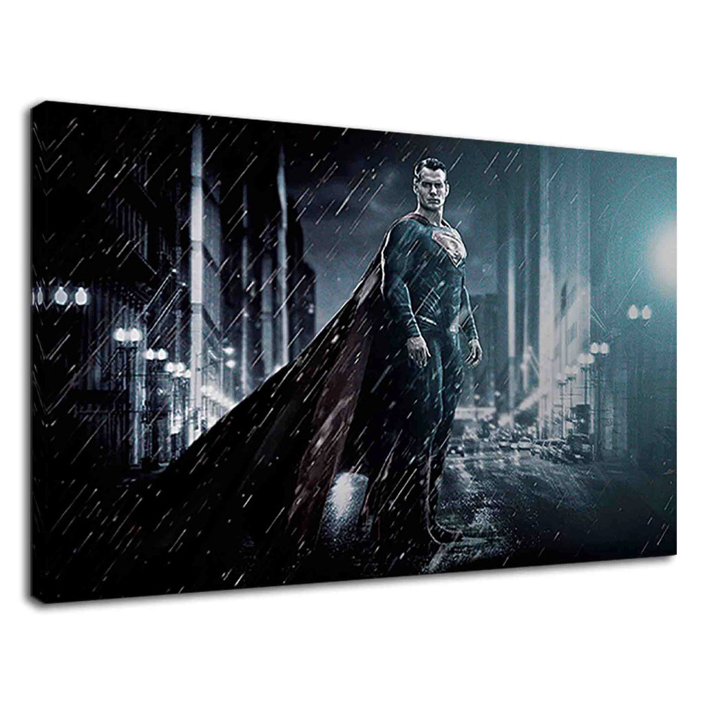 Superman Standing In Night Rainy For Girls Bedroom