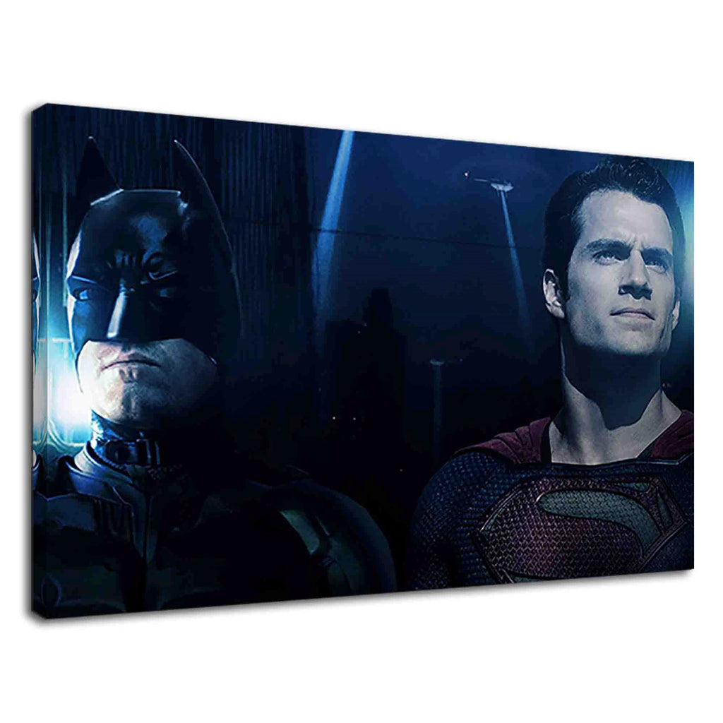 Superman Standing Beside Batman For Boys Bedroom