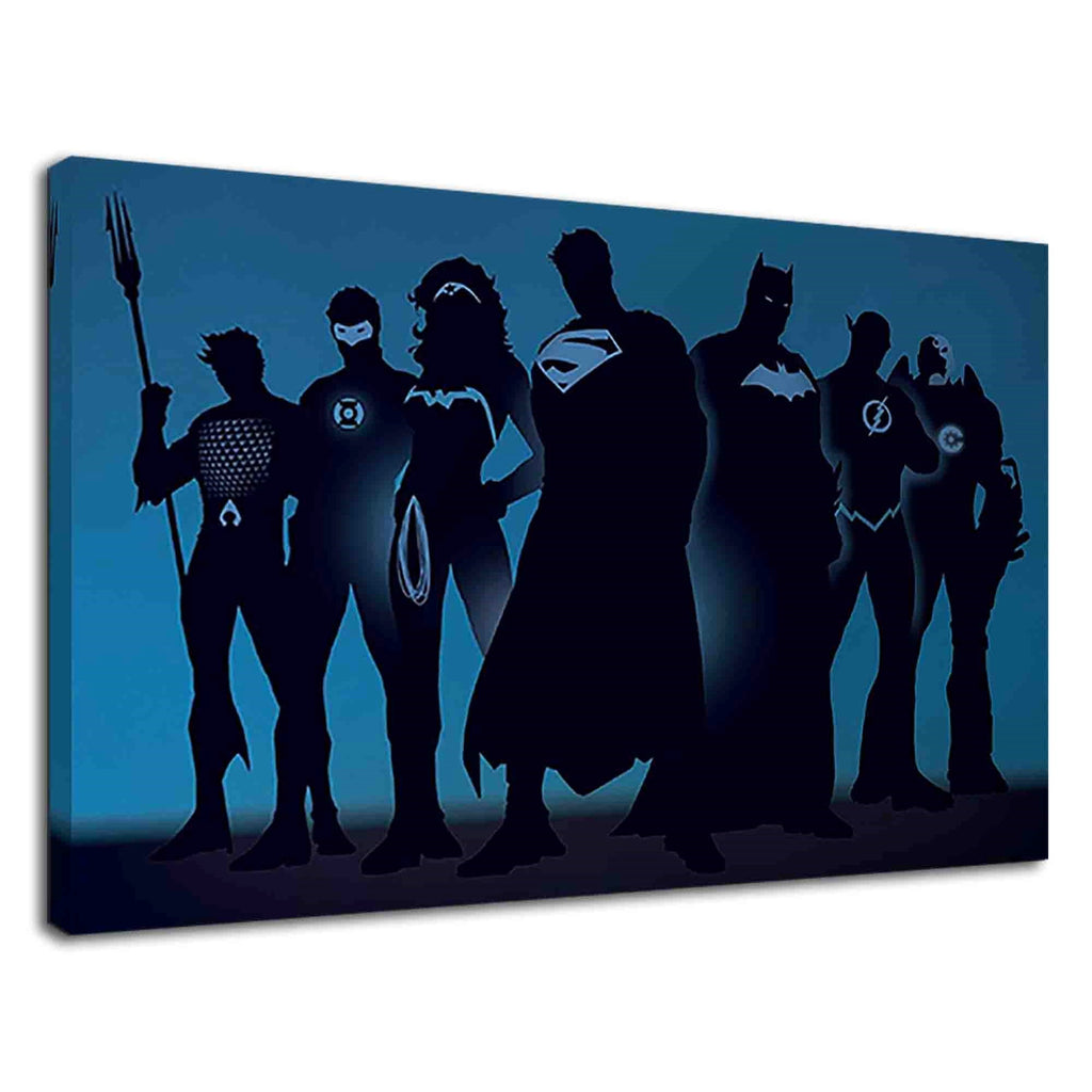 Justice League Superheroes Silhouette Digital Art