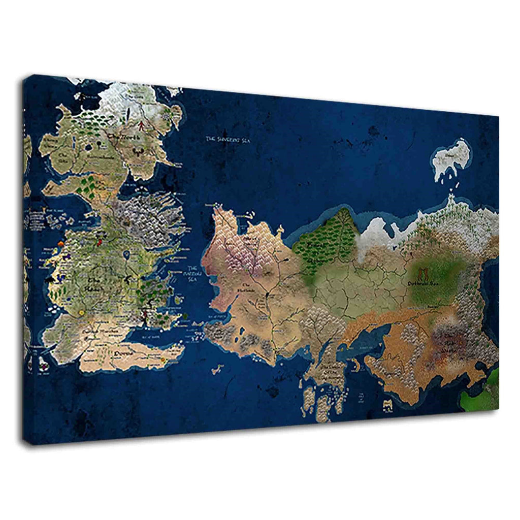 Mythical Land Of Westeros Map From Game Of Thrones