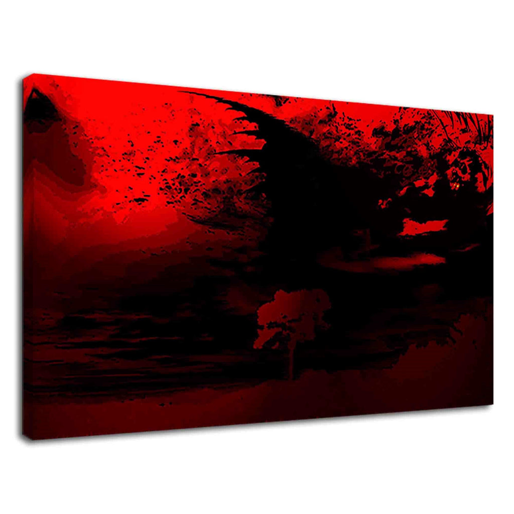 Creepy Blood Red Digital Contemporary Art