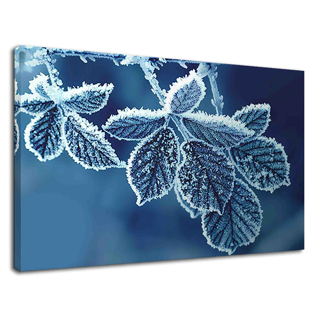 Lovely Frozen Leaves In Winter For Drawing Room