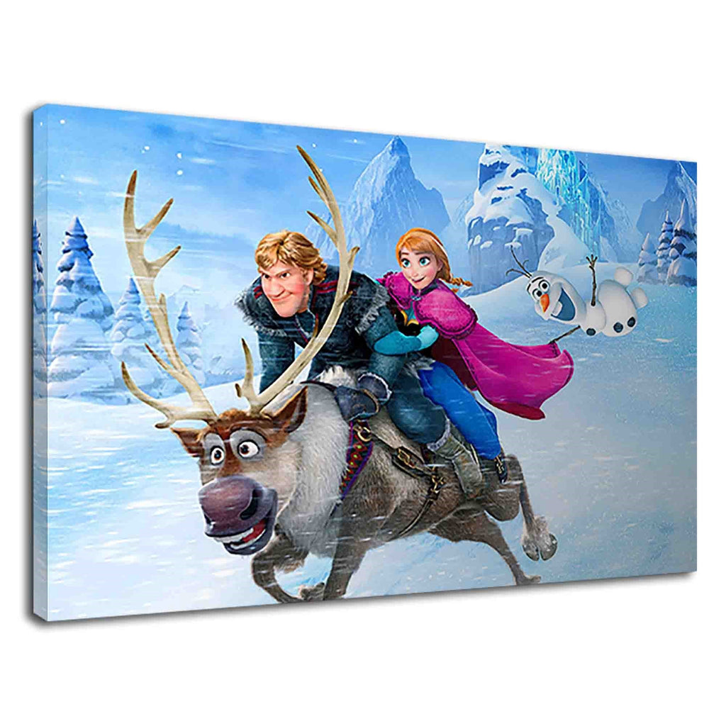 Frozen Anna And Kristoff Riding Sven Digital Art