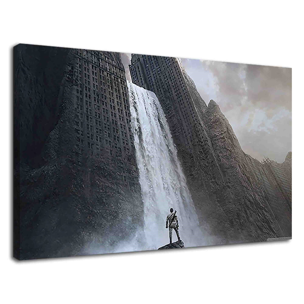 Conceptual Waterfall In Building Fantasy Art