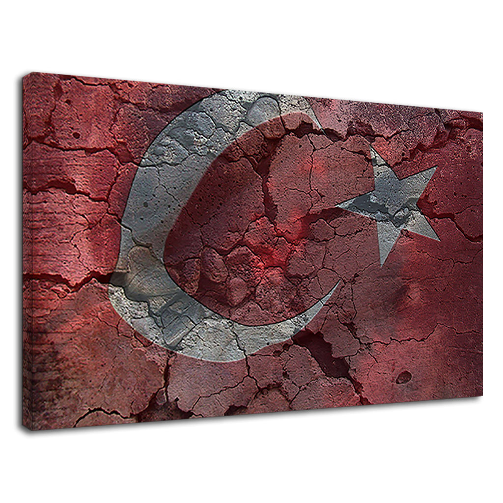 Turkish Flag Of Turkey Istanbul Wall Spraypaint