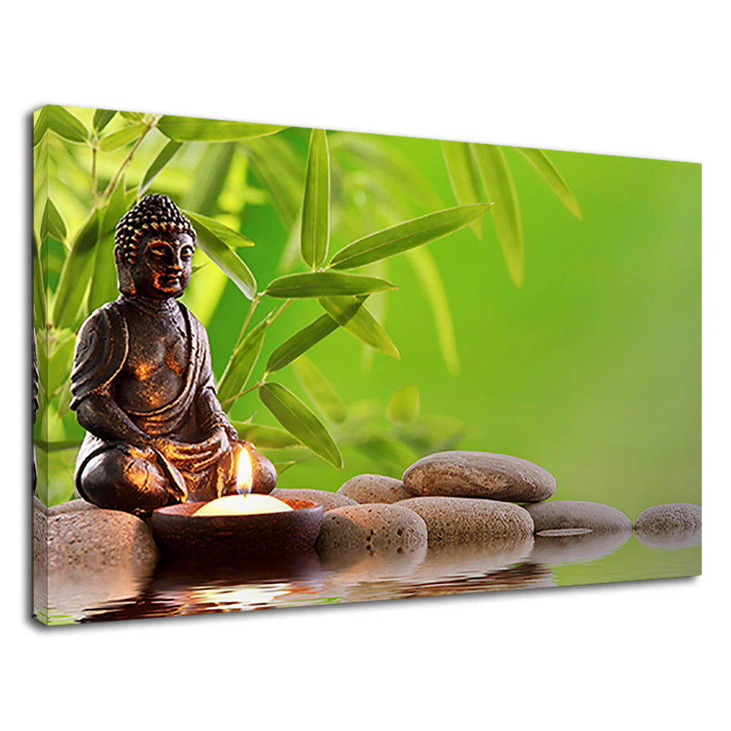 Buddha Candle Buddhist Meditation Zen Pebbles