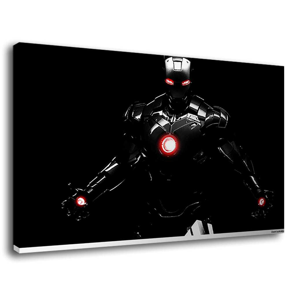 Iron Man Dark Black Comic Fan Artwork Avengers