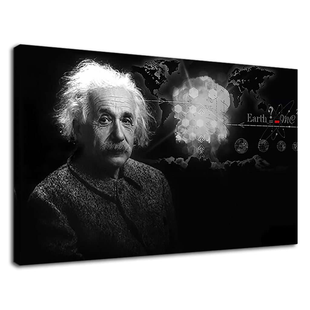 Albert Einstein Scientific Genius Mind Tribute Mc2