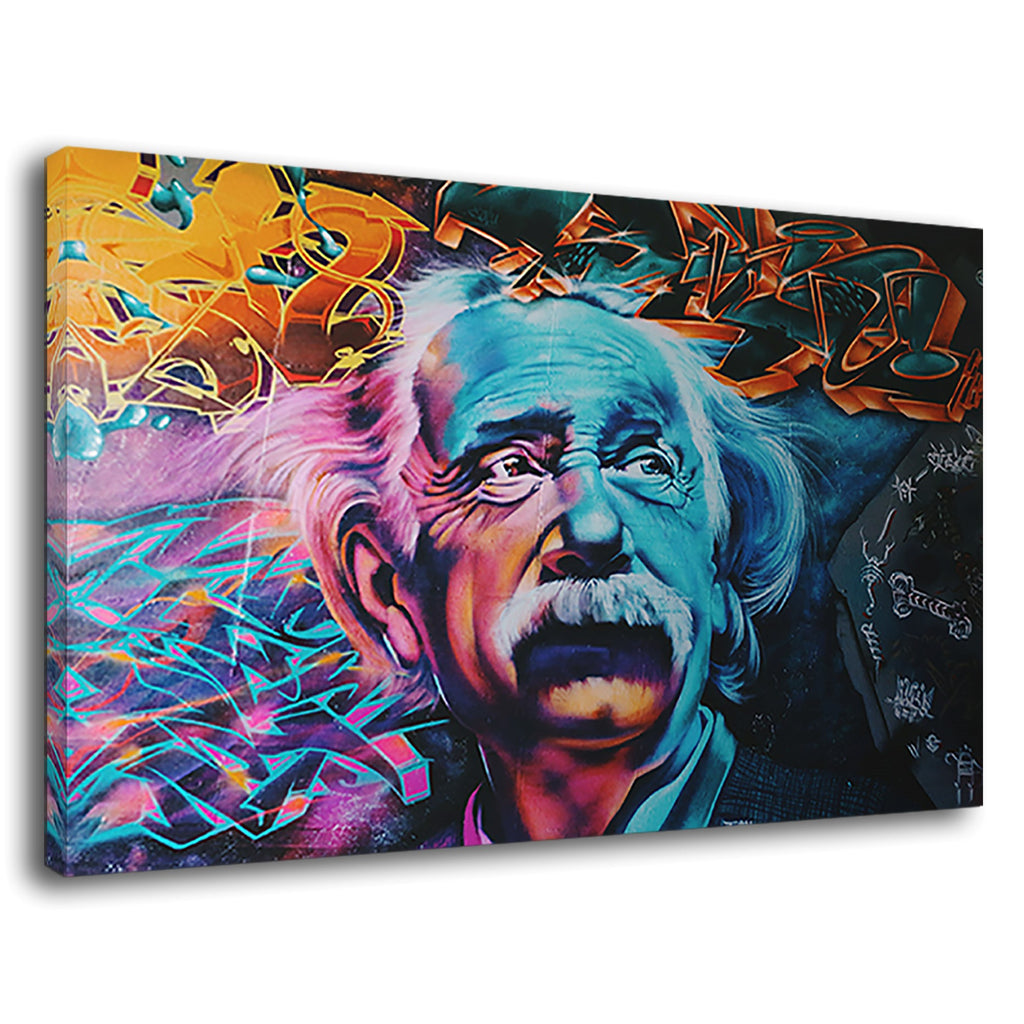 Albert Einstein Scientific Genius Crazy Graffiti