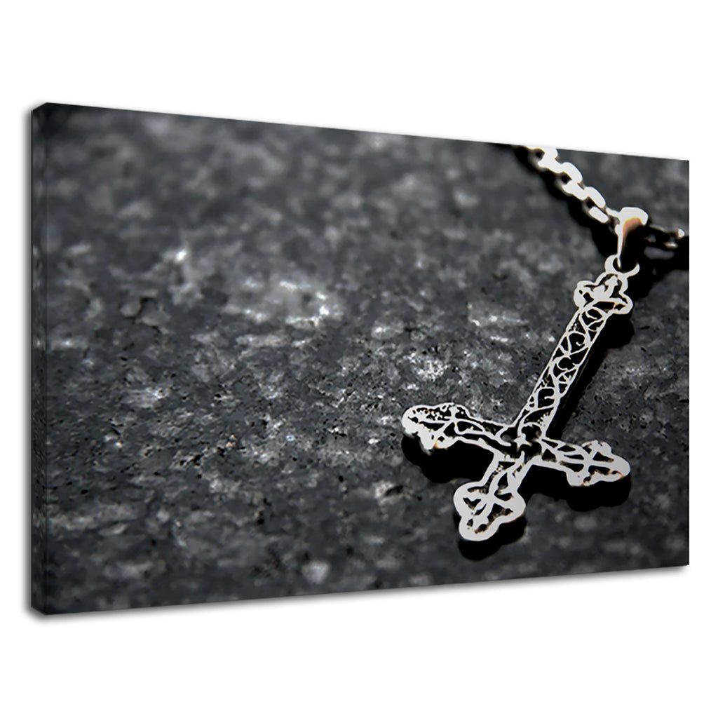 Silver Crucifix Gothic Style Cross Christian Jesus