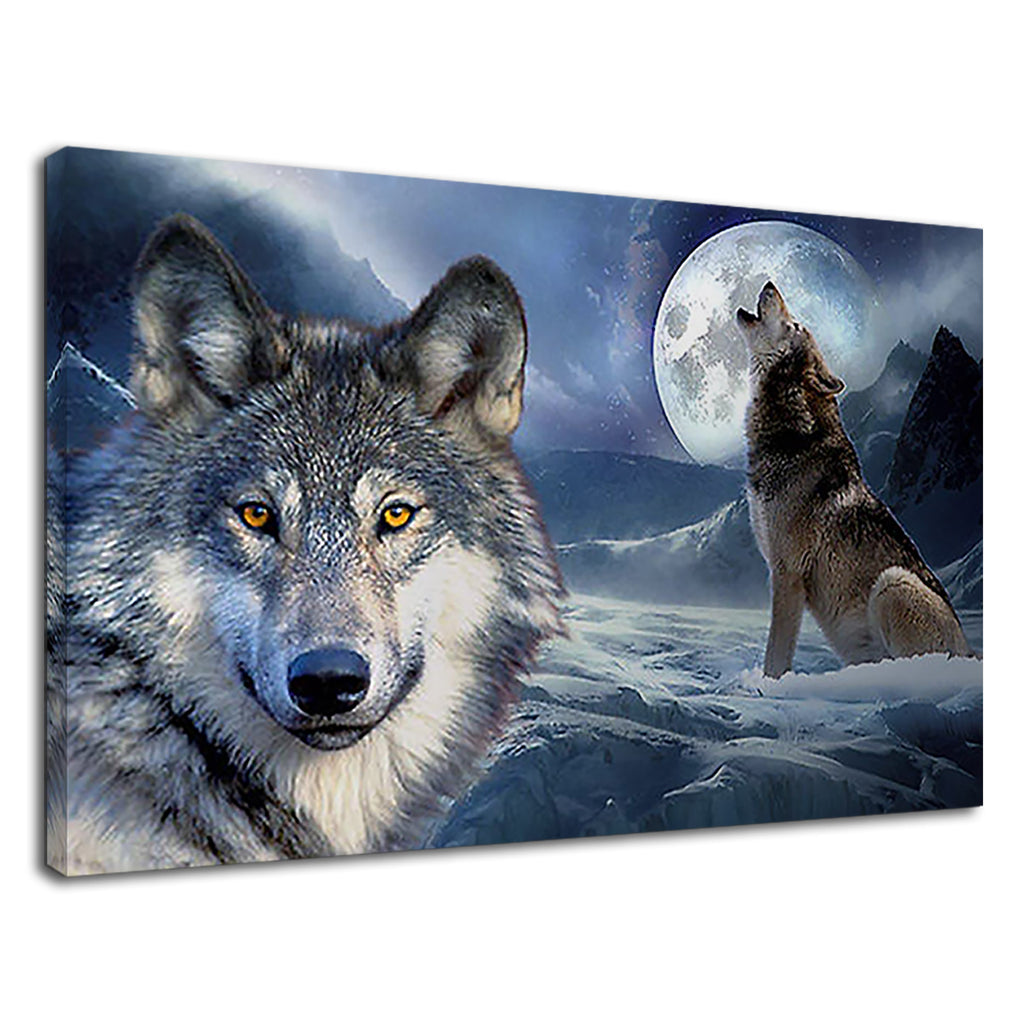 Mountain Wolf Howling Vampire Fantasy Wildlife